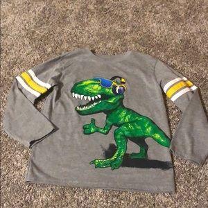 Boys long sleeve dinosaur shirt